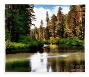 Millers Creek Painterly Fleece Blanket