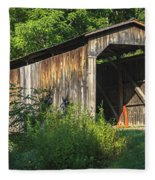 Milton Dye Covered Bridge  Fleece Blanket