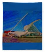 Milwaukee Art Museum Fleece Blanket