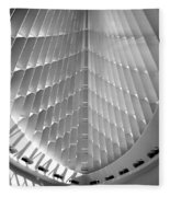 Milwaukee Art Museum Interior B-w Fleece Blanket