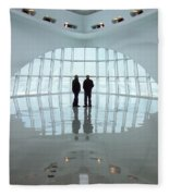 Milwaukee Art Museum Shadows Fleece Blanket
