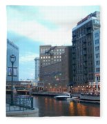 Milwaukee River Walk Fleece Blanket