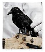 Mime's Guitar Accompanist Fleece Blanket