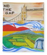 Mind The Gap Fleece Blanket