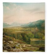 Minding The Flock Fleece Blanket