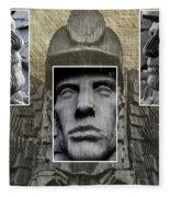 Miners Triptych Fleece Blanket