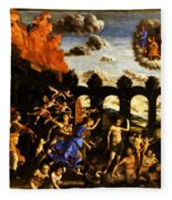 Minerva Chasing The Vices From The Garden Of Virtue 1502 Fleece Blanket