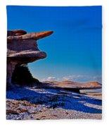 Mingan's Humanoid Monolith Fleece Blanket
