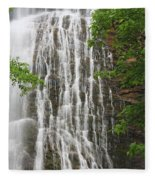 Mingo Falls Closeup Fleece Blanket