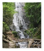 Mingo Falls In North Carolina Fleece Blanket