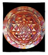 Mini Sri Yantra Kupfer Lichtmandala  Fleece Blanket