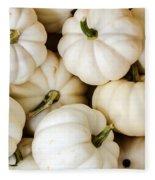 Mini White Pumpkins Fleece Blanket