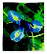 Miniature Blue Iris Fleece Blanket