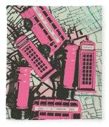 Miniature London Town Fleece Blanket
