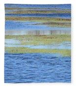 Brazos Bend Wetland Abstract Fleece Blanket