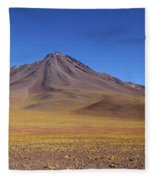 Miniques Volcano And High Altitude Desert Chile Fleece Blanket