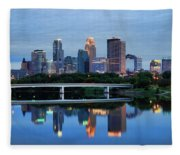 Minneapolis Reflections Fleece Blanket