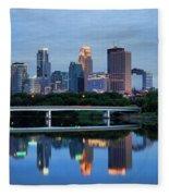 Minneapolis Reflections Fleece Blanket