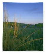 Minnesota Prairie Moon Rise Fleece Blanket