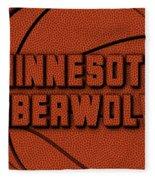 Minnesota Timberwolves Leather Art Fleece Blanket