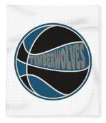 Minnesota Timberwolves Retro Shirt Fleece Blanket