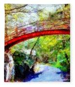 Minnewaska Wooden Bridge Fleece Blanket