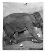 Minnie The Elephant, 1920s Fleece Blanket