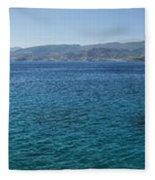 Mirabello Bay Panorama Fleece Blanket