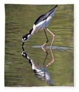 Mirror Image Stilt II Fleece Blanket