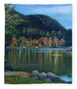 Mirror Lake In Woodstock New Hampshire Fleece Blanket