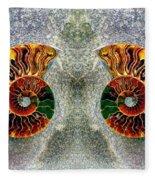 Mirrored Ammomite - 8305 Fleece Blanket