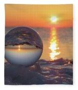 Mirrored Sunrise Fleece Blanket