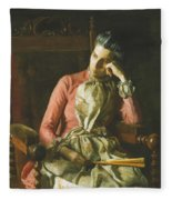Miss Amelia Van Buren Fleece Blanket