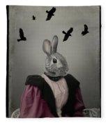 Miss Bunny And Crows Fleece Blanket