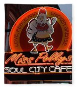 Miss Polly's Soul City Cafe Fleece Blanket
