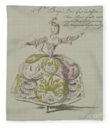 Miss Puvigne As Air, In Zoroastre, A Libretto By Cahusac Fleece Blanket