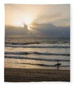 Mission Beach Surfer Fleece Blanket