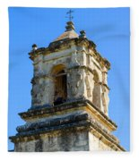 Mission Bell Tower Fleece Blanket
