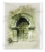 Mission Espada Chapel Door Fleece Blanket