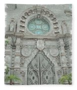 Mission Inn Chapel Door Fleece Blanket