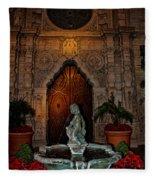 Mission Inn Chapel Fountain Fleece Blanket