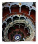 Mission Inn Circular Stairway Fleece Blanket