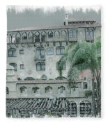 Mission Inn Court Yard Fleece Blanket