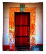 Mission Red Door Fleece Blanket