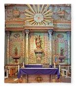 Mission San Miguel Arcangel Altar, San Miguel, California Fleece Blanket