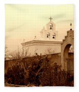 Mission San Xavier Chapel Fleece Blanket