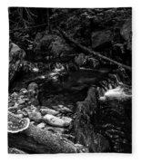 Missisquoi River In Vermont - 2 Bw Fleece Blanket