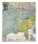 Mississippi Region, 1687 Fleece Blanket