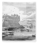 Mississippi River, 1854 Fleece Blanket