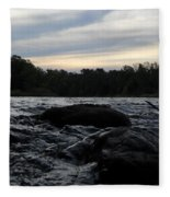 Mississippi River Dawn Sky Fleece Blanket